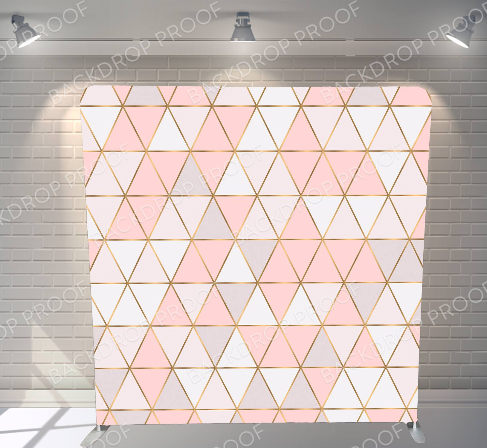Pink-White-geometric-triangles